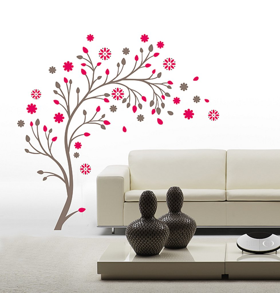 Buy Decals Design U0027Beautiful Magic Tree With Flowersu0027 Wall Sticker (PVC  Vinyl, 50 Cm X 70 Cm) Online At Low Prices In India   Amazon.in