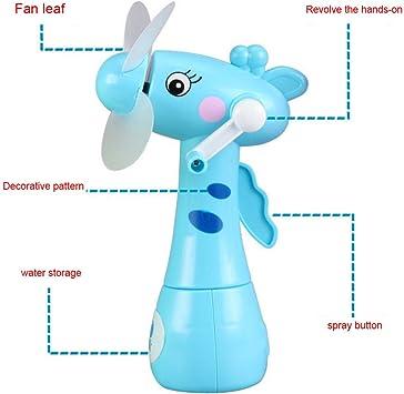Familizo Mini Ventilador de Pulverización de Agua Manual Rotating ...