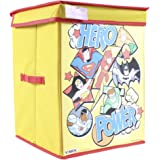 DC SuperFriends Fabric Toys Organizer with Lid (Blue, Large)