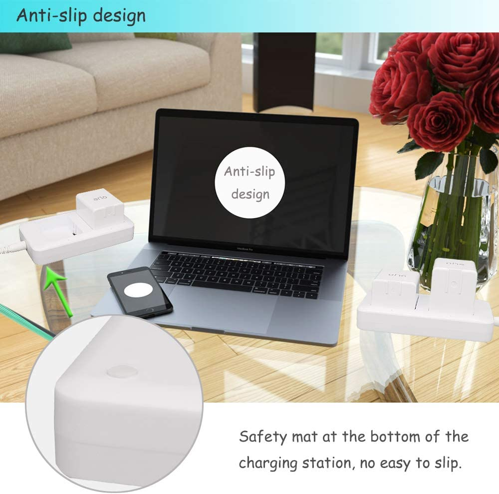 Beyllord Fast Dual Batteries Charging Dock Station Compatible Arlo Pro Arlo Go and Arlo Security Light Camera Batteries Adapter Pass FCC /& UL Certified Arlo Pro 2 Arlo Battery Charger