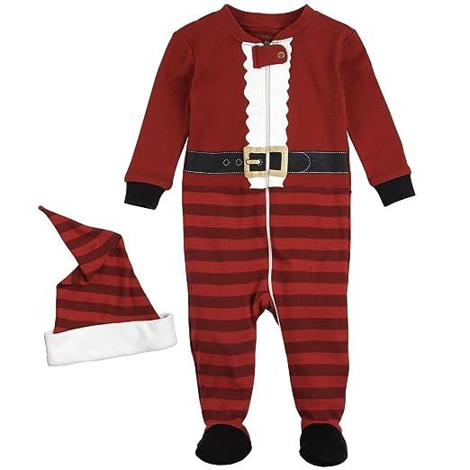 c3b4ccef9c85 Amazon.com  Petit Lem Holiday Baby Sleeper Pyjama   Hat  Clothing