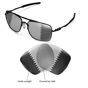 9065816275a73 Walleva Replacement Lenses for Oakley Deviation Sunglasses - Multiple  Options (Transition photochromic - Polarized)  Amazon.ca  Sports   Outdoors