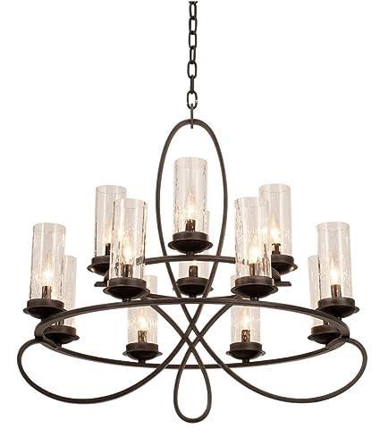 Amazon.com: Lámpara de araña, 12 bombillas, con acabado de ...