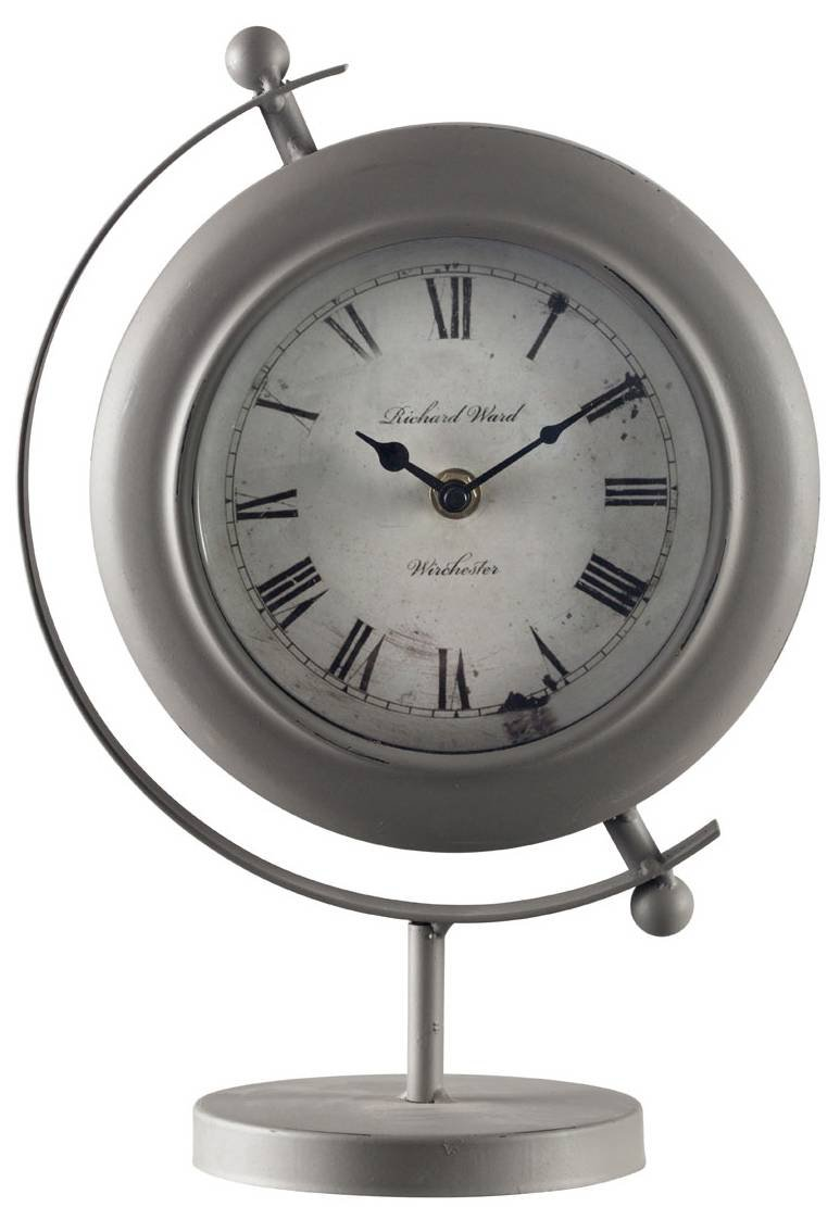 Premier Housewares prem-2200976Table Clock, Grey, 22x 13x 32cm