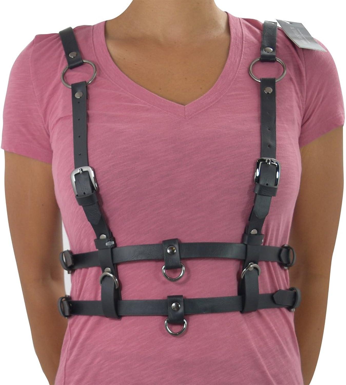 waist belt PENTAGRAM HARNESS BELT gothic accessory Double straps