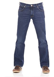Wrangler Mens Jacksville Regular Bootcut Stretch Jeans Boot Leg Denim High Class