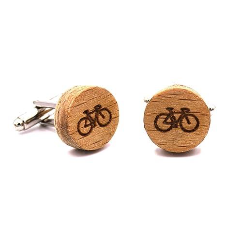 Gemelos de madera Bike. Colección de moda hombre: Gemelos de ...