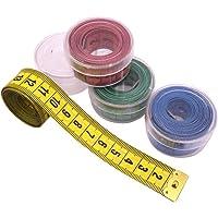 12 Adet Renkli Standart 1.5 Metre Mezura Klasik Mezro Şeffaf Kutu