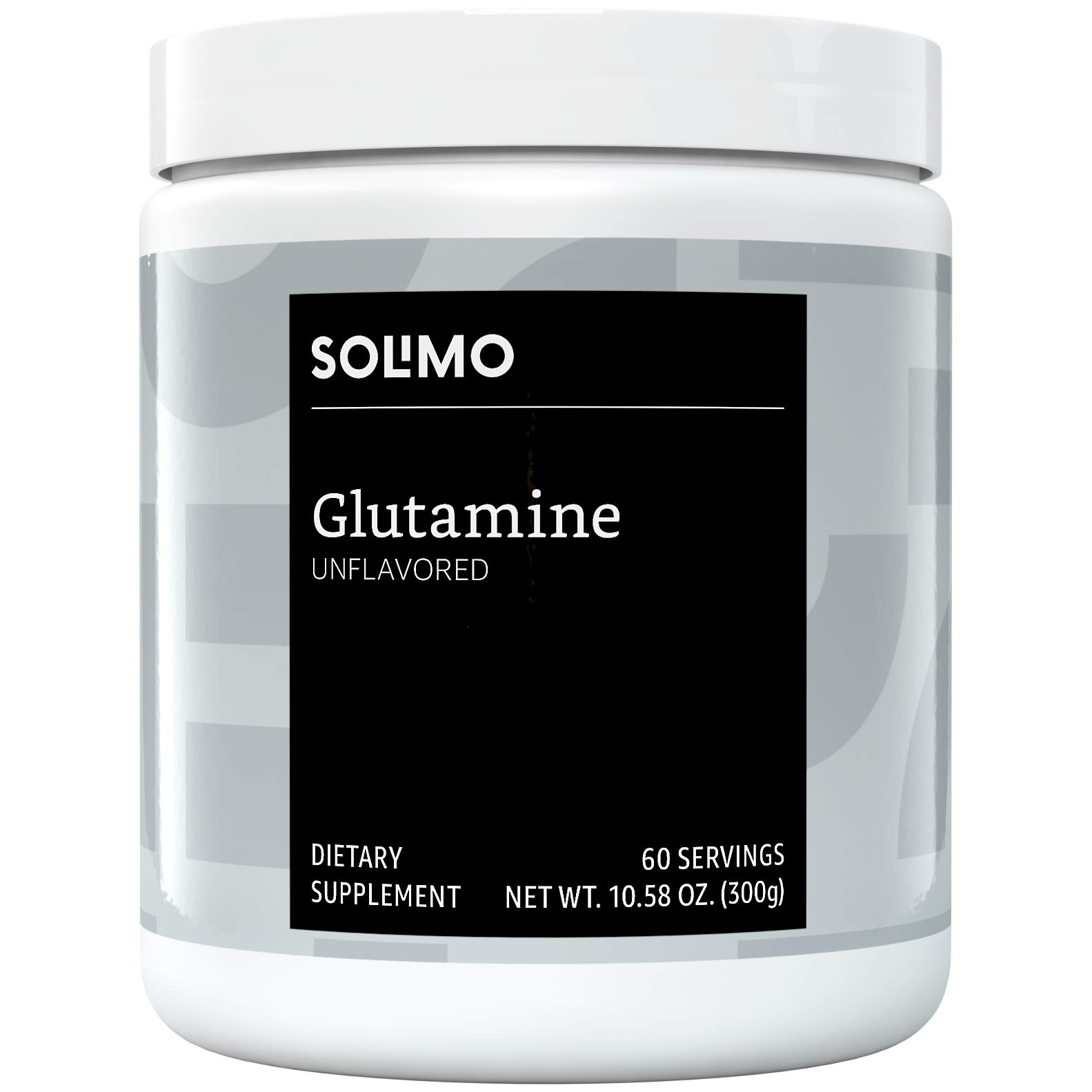 Amazon Brand - Solimo Glutamine Powder, Unflavored, 5 G L-Glutamine per Serving, 10.58 Ounce (60 Servings) by Solimo