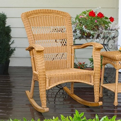 Pemberly Row Plantation Rocking Chair in Amber