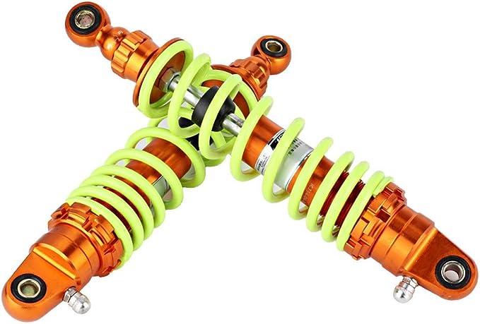 Hlyjoon Shocks Struts 980LBS Motorcycle Rear Air Suspension Spring Shock Struts 280mm Aluminum Alloy Damper Shocks Struts for Bikes Motorbike Universal