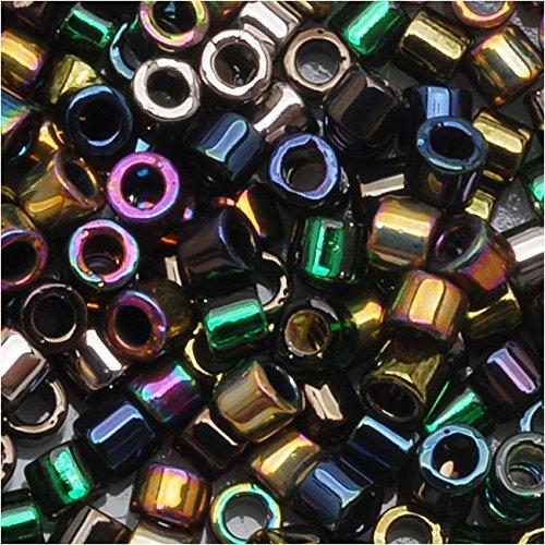 - Miyuki Delica Seed Beads Mix 10/0 Heavy Metals Metallic Iris Gold 8 Grams