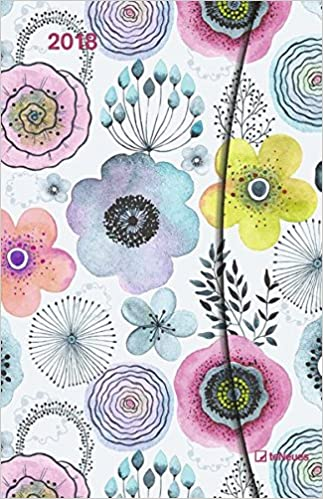 2018 Abstract Flowers Diary - teNeues Large Magneto Diary - Illustrations - 10 x 15 cm