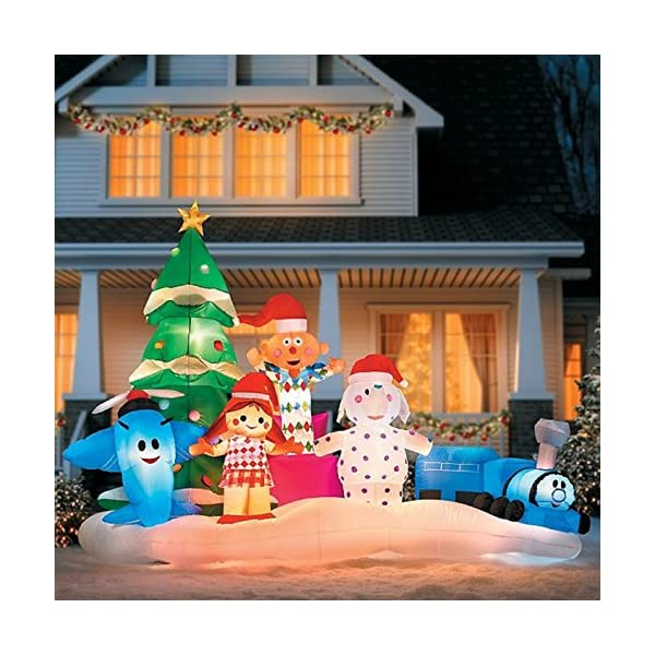 Rudolph The Rednose Reindeer Island of Misfit Toys Christmas Inflatable - Rudolph The Rednose Reindeer Island Of Misfit Toys Christmas