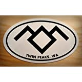Amazon Price History for:Twin Peaks Stickers, Black Lodge symbol on 4x3 oval bumper sticker with Twin Peaks, WA