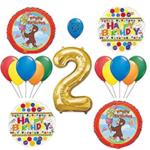 Amazon Curious George 2nd Birthday Party Balloon Kit Cell