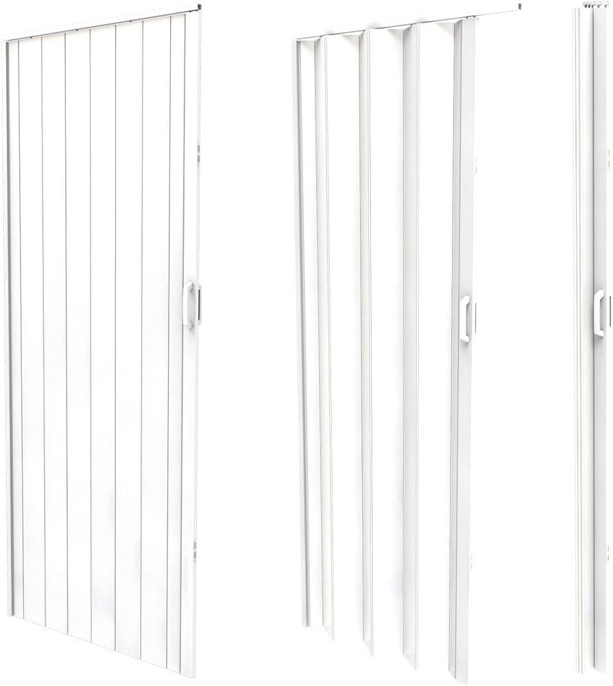 Jago – Puerta plegable de PVC – Blanco – Aprox. 203 x 82 cm: Amazon.es: Bricolaje y herramientas