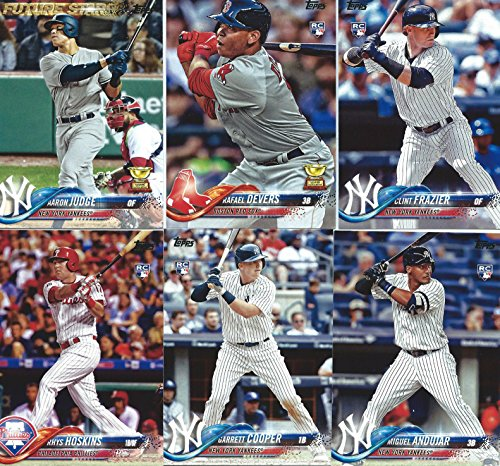 2018 Topps Baseball Series One Complete Mint Base 350 Card Set Loaded with Star Players Rookies and Future Stars including Aaron Judge - Complete Sets Card Baseball