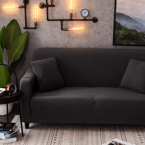 DishyKooker - Funda de sofá elástica de Color Liso, Todo Uso ...