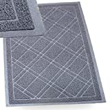 "SlipToGrip Universal Door Mat – Plaid Design Size 35"" x 23"" – Anti Slip, Durable & Washable – Duraloop Mesh Entrance Outdoor & Indoor Welcome Mat – Dirt and Dust Absorber"
