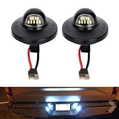 2 PCS LED License Plate Light Lamp Assembly Fit Ford F-150 F-250 F-350 F-450 F-550 Superduty Ranger Explorer Bronco Excursion Expedition Replace F1TZ-13550-A F37Z-13550-A F37Z-13550-AA F67Z13550AA: Automotive
