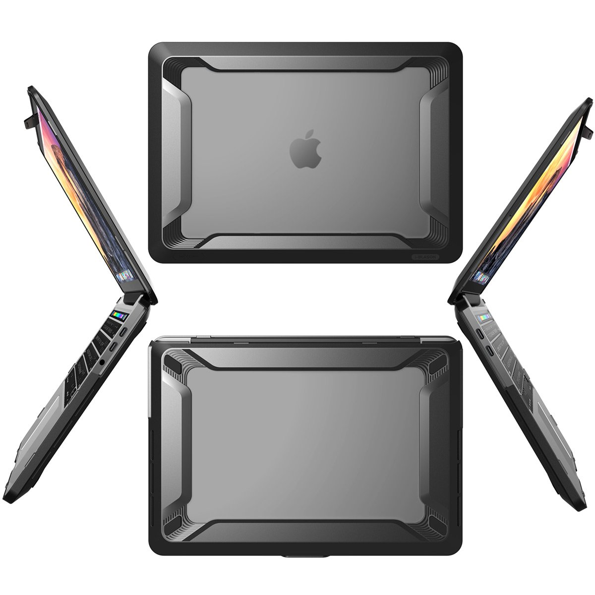 MacBook Pro 13 Case 2018 2017 2016 Release A1989/A1706/A1708, i-Blason [Heavy Duty] [Dual Layer] Cover with TPU Bumper for Apple Macbook Pro 13 inch With or Without Touch Bar and Touch ID (Black) by i-Blason (Image #6)