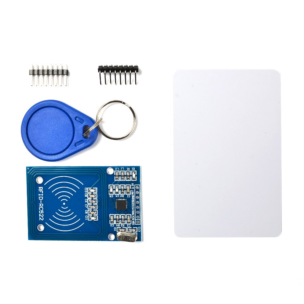 BUYGOO RC522 RFID Reader with S50 Keychain Card, RC522-RFID Reader for Arduino, Raspberry Pi and Co. - Create Keycards, Access Control System, Punch Card System