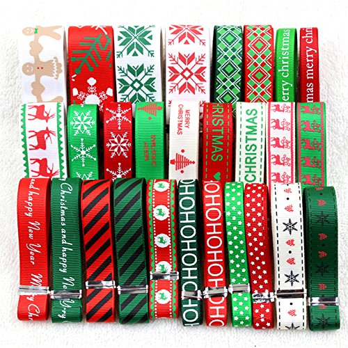 Christmas Tablescape Decor - Christmas Ribbon Mix Series