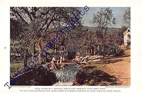 Homespun Linen - Print Ad 1939 Croatian and Slovakian Homespun Linen