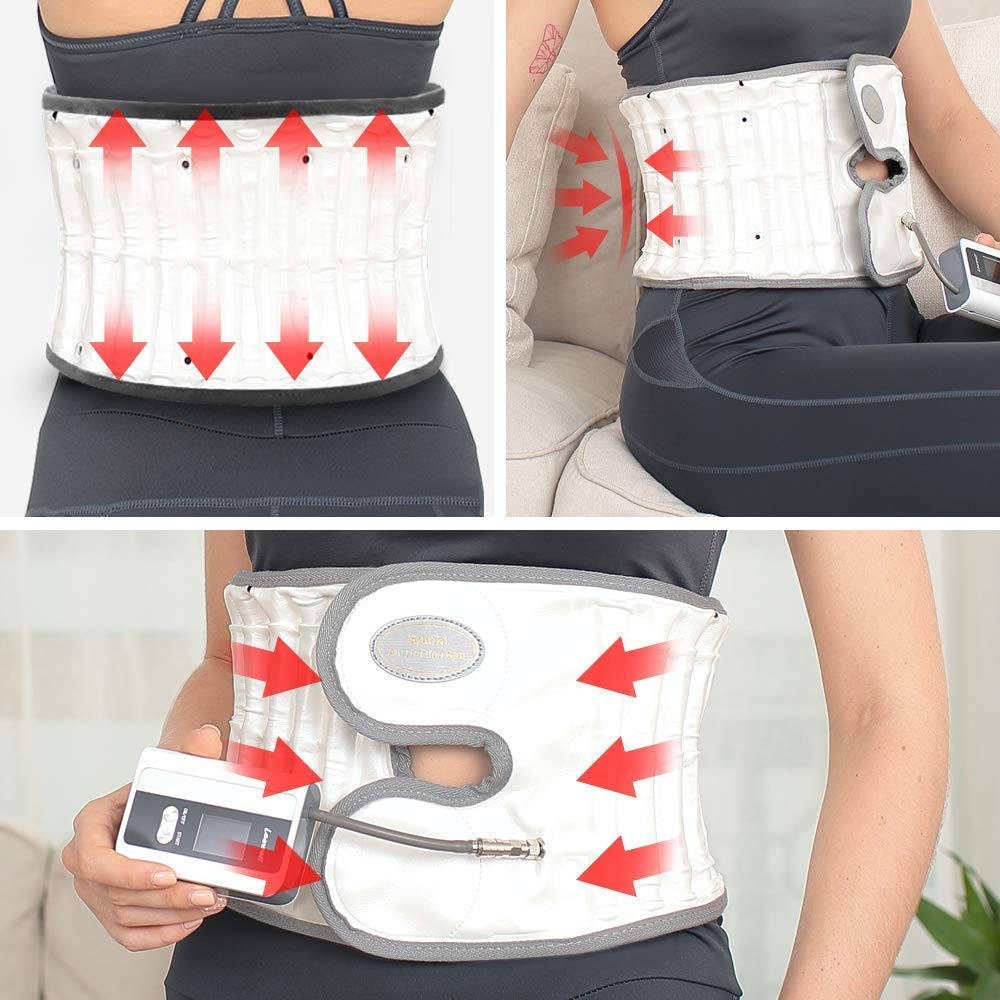 Leawell Electric Pump Back Brace Back Relief Belt|Health Decompression Back Belt for Lower Back Pain Posture Correct QY04 Size L(Waist 36''~42'') by Leawell (Image #6)