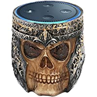 Speaker Stand Case for Amazon Echo Dot (2nd or 1st Generation). Alexa Echo Dots Skull Statue Crafted Guard Station. By ANTS - Brown