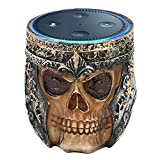 PAIYULE Speaker Stand Case for Amazon Echo Dot (2nd or 1st Generation). Alexa Echo Dots Owl Statue Crafted Guard Station (Skull)