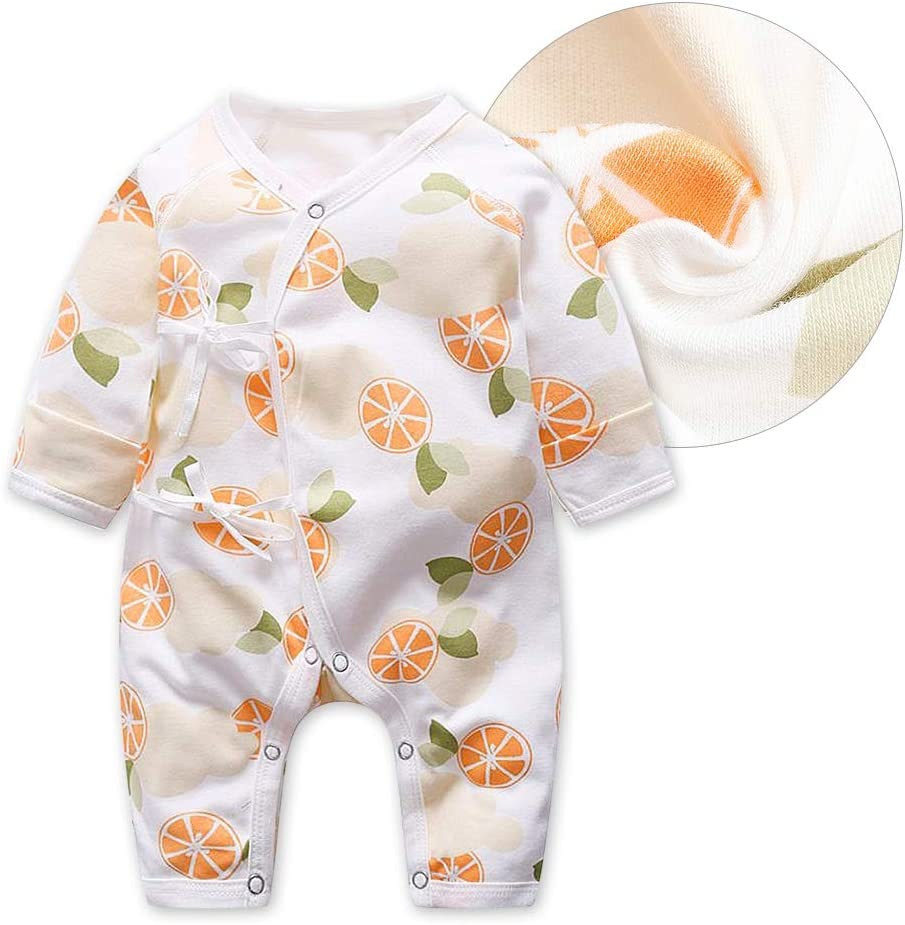 Fruit mignon imprim/é Combi-short pour enfants /à manches longues pour enfants Unisexe Onesies pour b/éb/és gar/çons filles 52-Orange