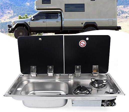 DIFU GR-904LD - Hornillo de gas para camping (2 fuegos ...
