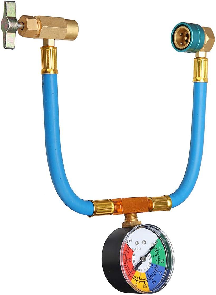 Viviance R-1234Yf A//C Manguera De Servicio Y 100Psi Acoplador De Calibre Recarga Latas De Refrigerante Cono