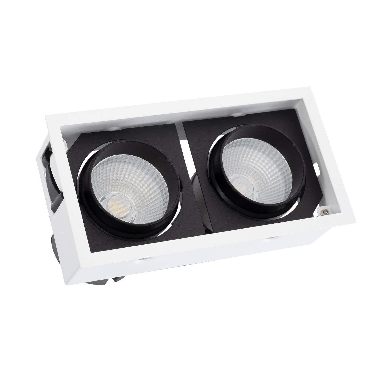 Weiãÿ4000k 36o LEDKIA Lampe COB Schwenkbar Kardan 60W LIFUD Weiß 4000K