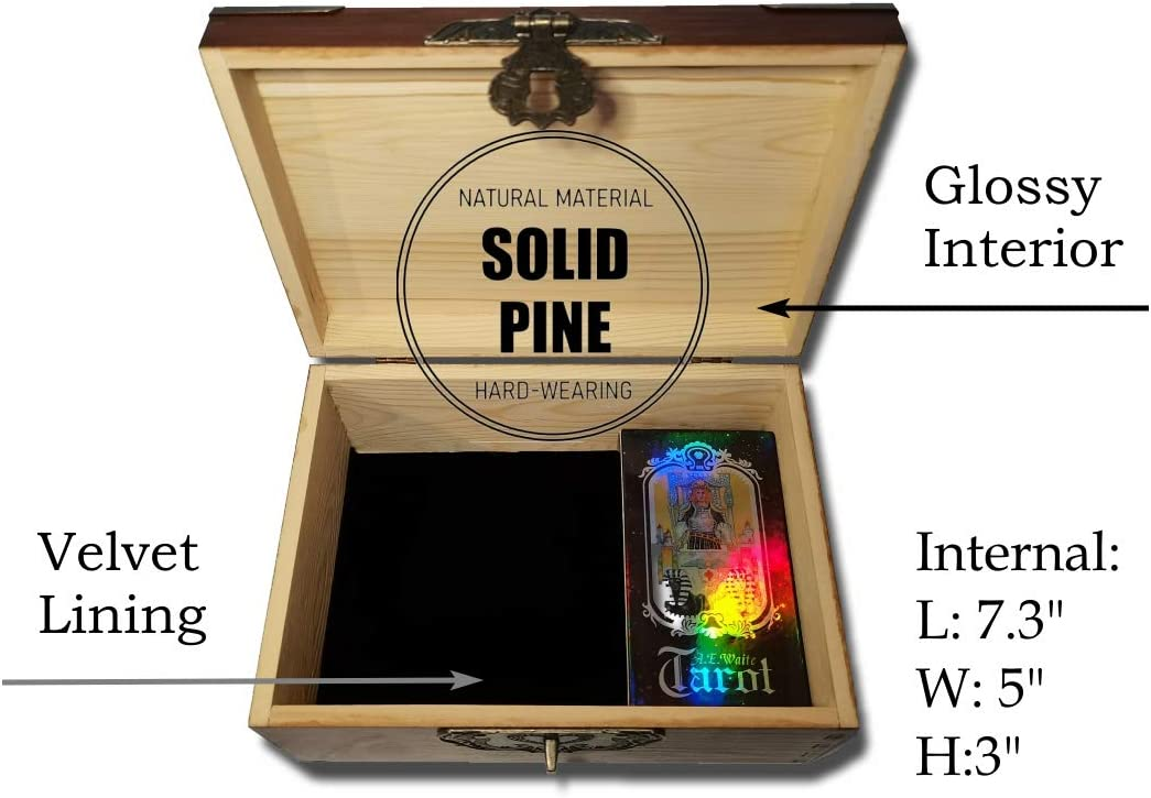 Pentacle Wicca Herb chest Witchcraft box Magic altar Wiccan Box Triquetera Jewerly box Triple moon Herb box Wooden chest