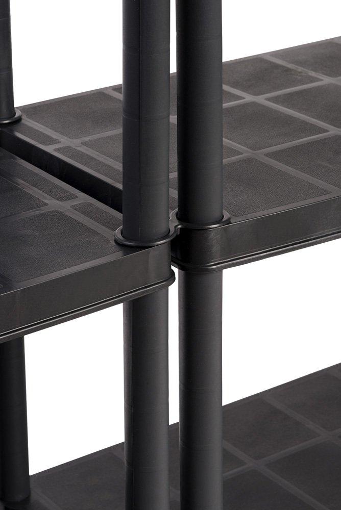 2 St/ück Kunststoff Steckregale mit 5 soliden B/öden 71 x 38 x 171 cm Ma/ße BxTxH in cm pro Regal belastbar mit bis zu 30 kg//Boden