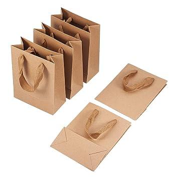 Pandahall 10pcs Sacs En Papier Kraft Pochette Sachets Kraft Cadeau