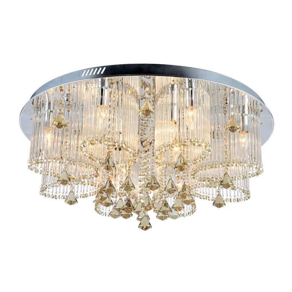 Office Ceiling Lights Round Crystal Chandelier Lighting Ideal for The Restaurant, Foyer, Living Room Bedroom Warm Ceiling Lamp Requires E14 Light Source16 Energy Level A+++ (Size : 6035cm) by Xk-Ceiling Lights