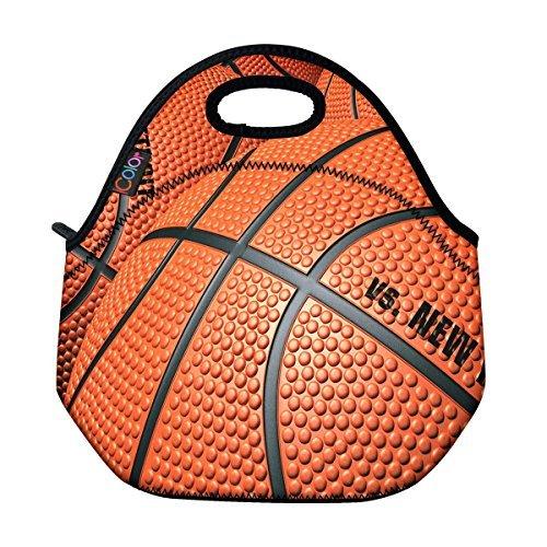 ICOLOR Basketball Insulated Neoprene Lunch Bag Tote Handbag