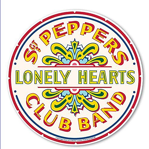 (The Beatles Mouse Mat Pad SGT Pepper Drum Band Logo Official Circular)