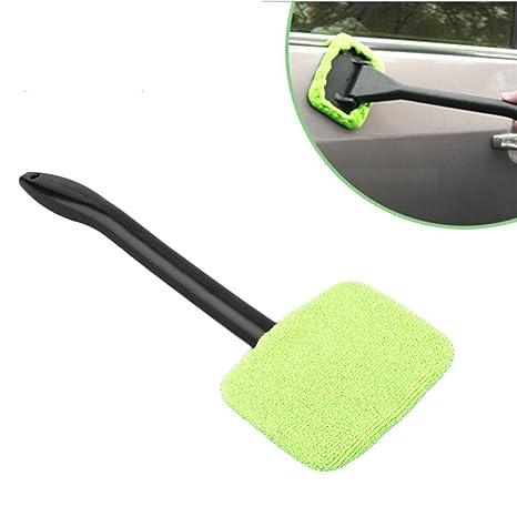 Microfibra limpia parabrisas coche limpiaparabrisas limpiador limpiaparabrisas de ventana de cristal limpiador Herramienta (verde)