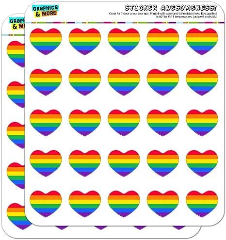 Rainbow Pride Gay Lesbian Contemporary Planner Calendar Scrapbooking Stickers