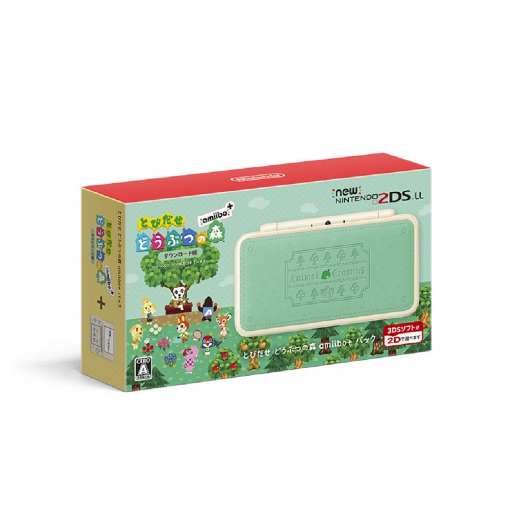 Animal Crossing amiibo pack NEW Nintendo 2DS LL Game Console Japan ver.