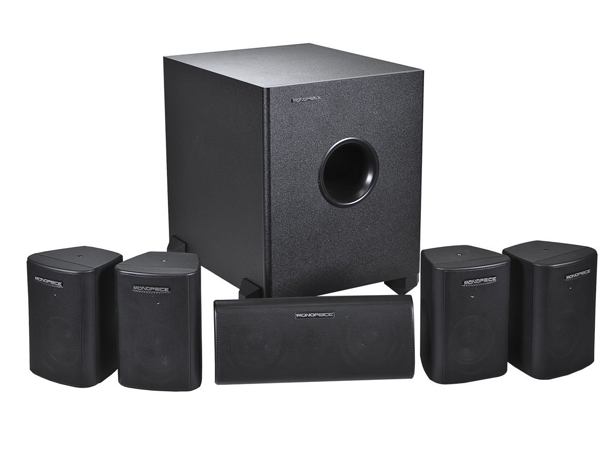 Monoprice 108247 5.1-Channel Home Theater Speaker System, Six by Monoprice
