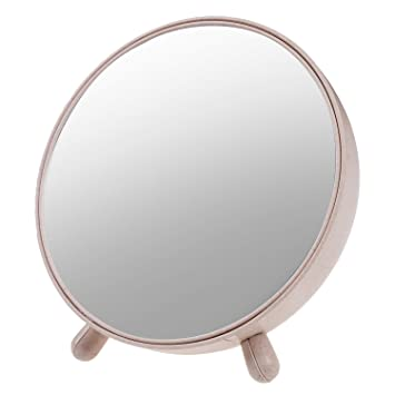 TSACTE Dressing Table Mirror Desktop Plastic Cover With Storage Function Stand Random