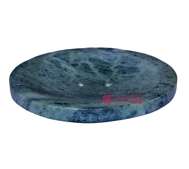 Artistzila Natural Granite Hardstone Marble Soap Dish Bathroom Accessory Handmade Soap Tray Shower Soap Saver Sponges Scrubber Bath Tub