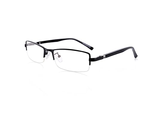 0660f329e95 GRAFIT Optical Frames Clear Lens Glasses For Mens Business Semi-rimless  Eyewear With Titanium Frame And TR90 Temples  Amazon.co.uk  Clothing