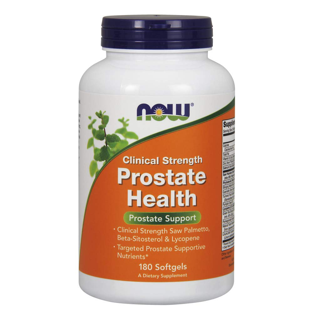 NOW Supplements, Prostate Health, Clinical Strength Saw Palmetto, Beta-Sitosterol & Lycopene, 180 Softgels by NOW Foods